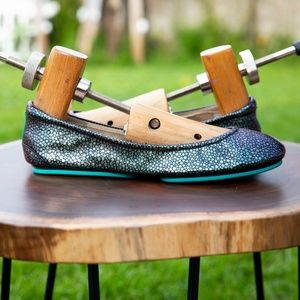 NIB Hand-Painted Custom Cyan Color-shifting Tieks
